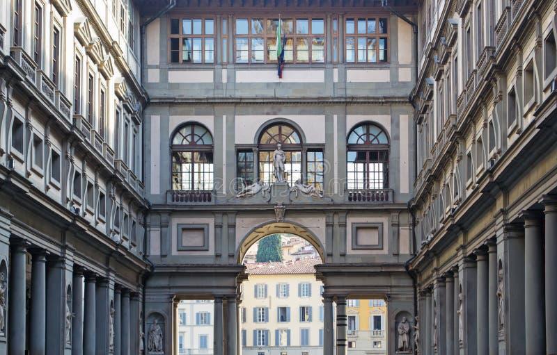 Galleria degli Uffizi. In Florence royalty free stock image