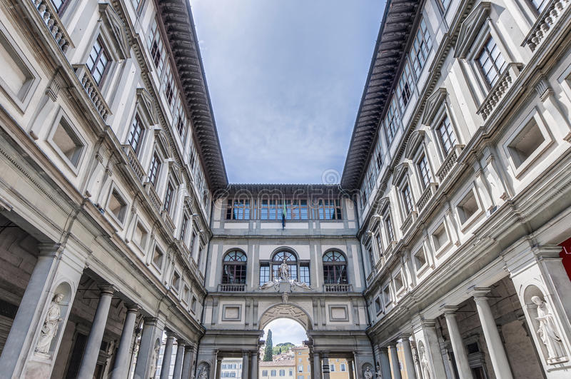 Galleria degli Uffizi museum in Florence, Italy. Galleria degli Uffizi (Uffizi Gallery) museum located in Florence, Italy stock image