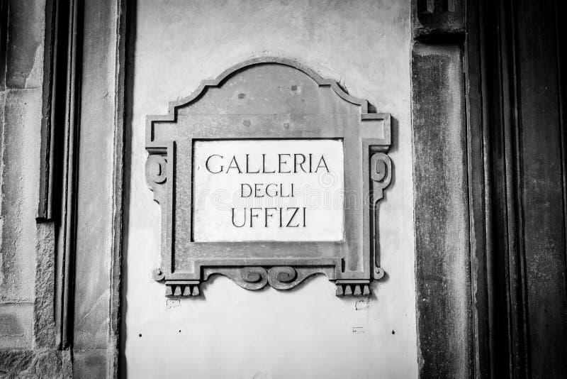 Galleria degli Uffizi stock photography