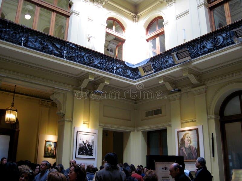 Galleria dei patrioti dell'America latina del bicentenario, individuati sul pianterreno del palazzo della casa Rosada fotografia stock