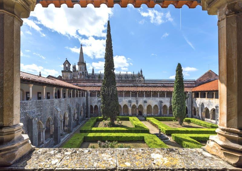 Galleria del cortile del monastero di Batalha immagini stock