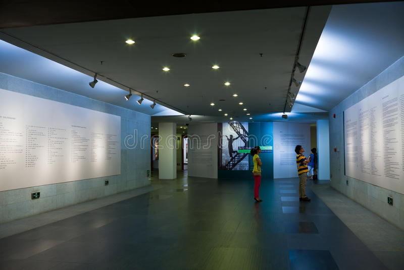 Galleria del Museo di Arte del Guangdong fotografia stock