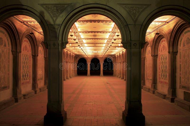 Galleria del terrazzo di Bethesda fotografia stock libera da diritti
