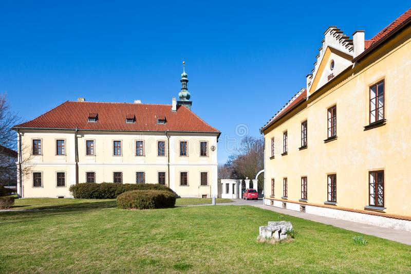 Galleria della città e del castello, Kladno, Boemia centrale, repubblica Ceca fotografia stock libera da diritti