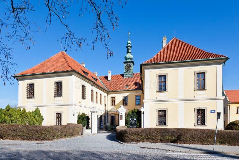 Galleria della città e del castello, Kladno, Boemia centrale, repubblica Ceca fotografia stock