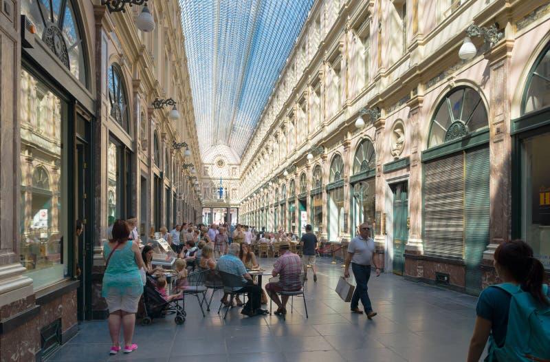 Galleria di acquisto a Bruxelles immagini stock
