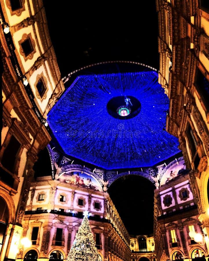 Galleria di acquisto di Milano sul Natale immagine stock libera da diritti