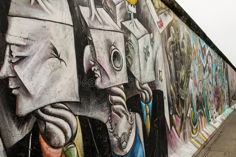 Galleria di arte di Berlin Wall al lato est di Berlino, Germania fotografia stock