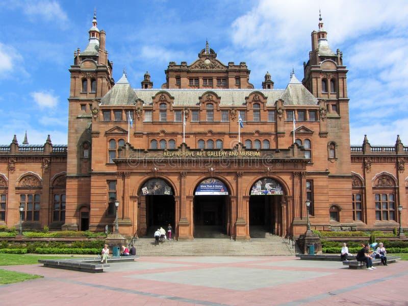 Galleria di arte di Kelvingrove e museo, Glasgow, Scozia fotografia stock libera da diritti