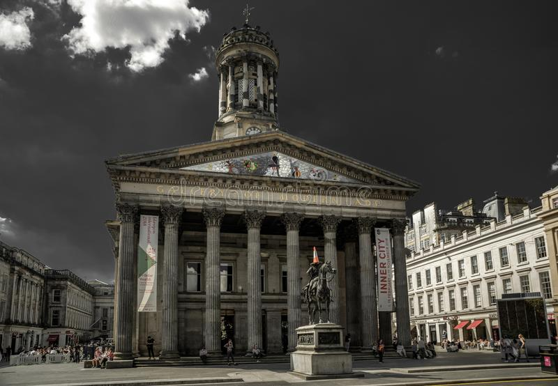 Galleria di arte moderna a Glasgow, Scozia fotografie stock