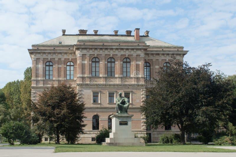 Galleria di arte a Zagabria immagini stock
