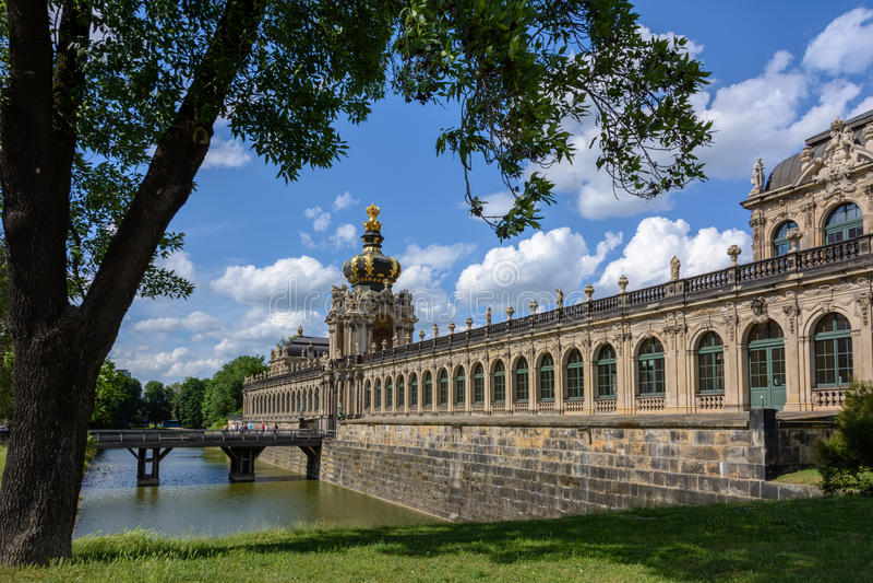 Galleria di immagini di Dresda - Dresda Zwinger, Dresda, Germania fotografia stock