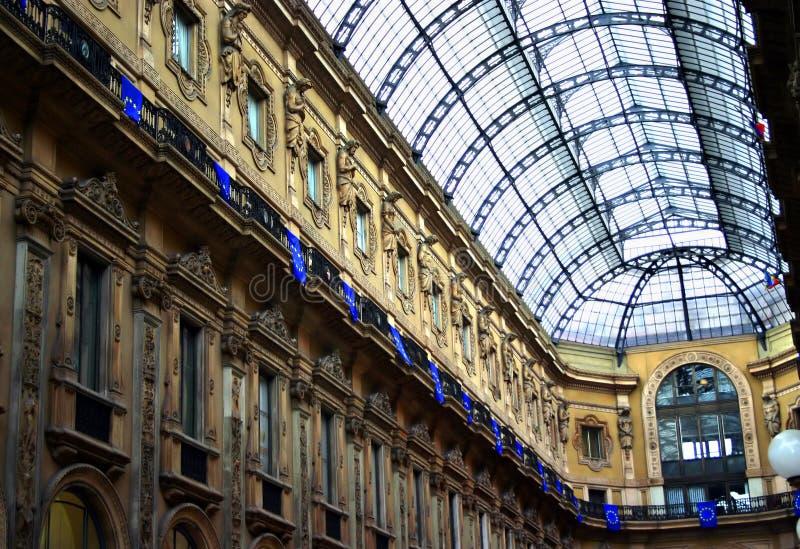 Galleria di Milano fotografie stock libere da diritti