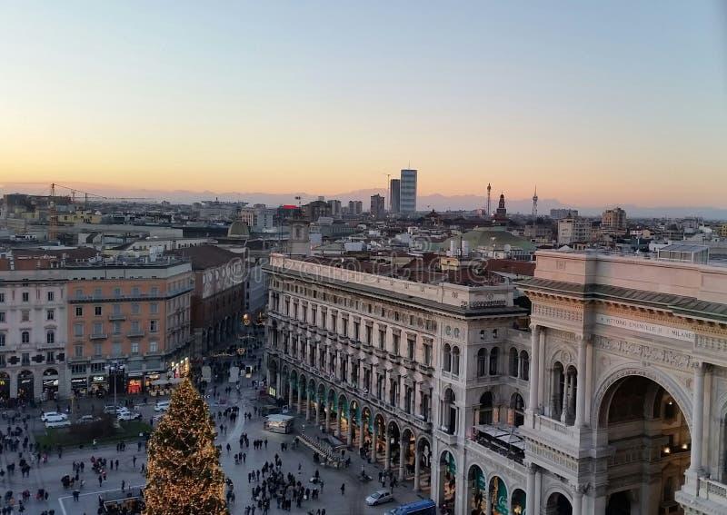 Galleria di Milano fotografie stock