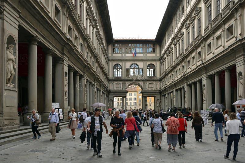 Galleria di Uffizi Firenze - in Italia fotografie stock libere da diritti