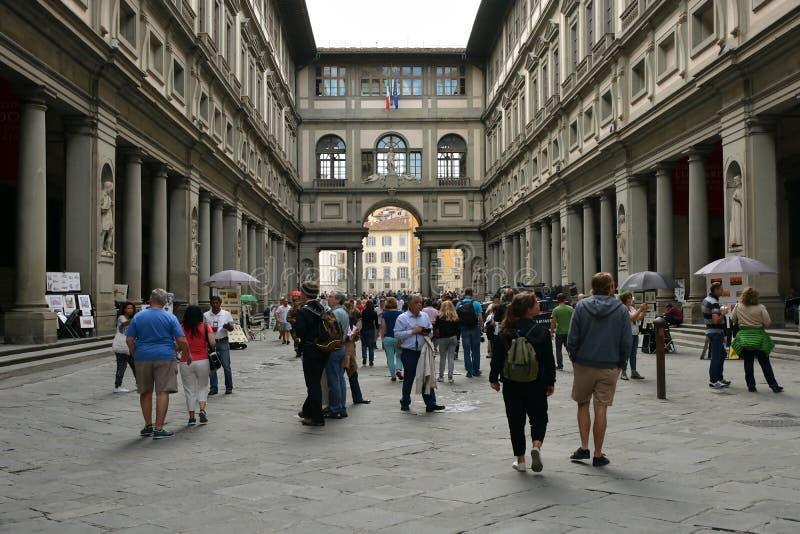 Galleria di Uffizi Firenze - in Italia immagine stock libera da diritti