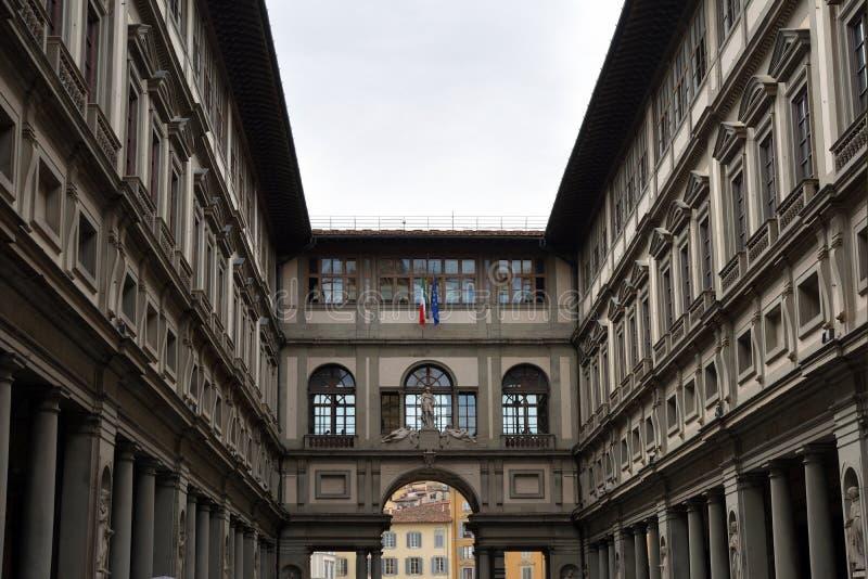 Galleria di Uffizi Firenze - in Italia fotografia stock libera da diritti