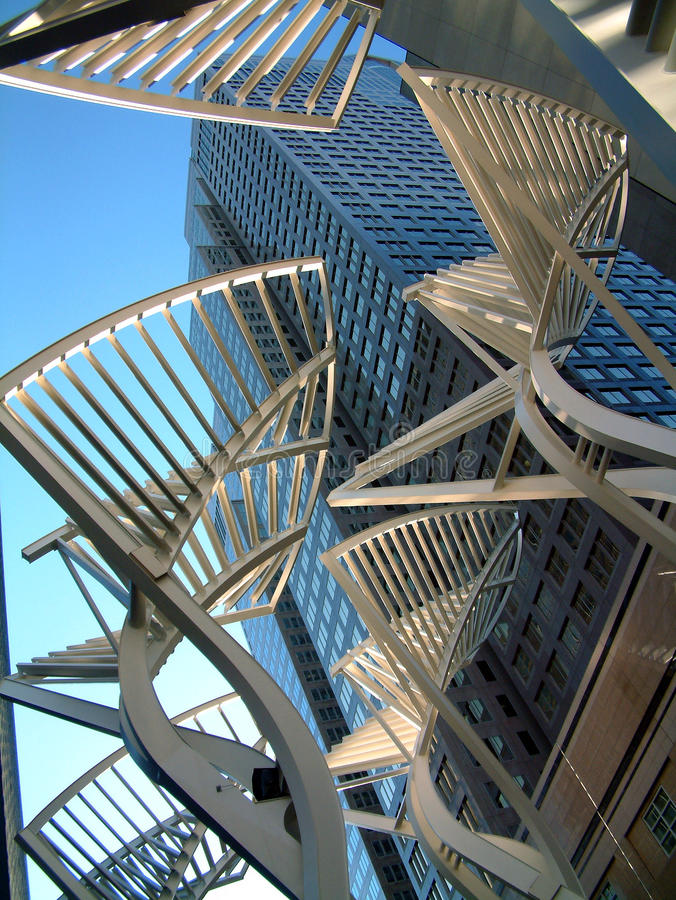 Galleria drzewa w Calgary śródmieściu zdjęcie royalty free