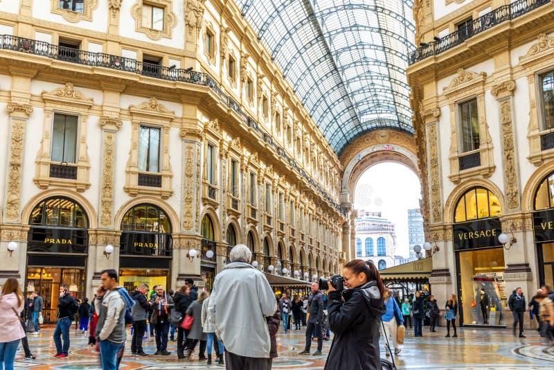 Galleria Vittorio Emanuele ΙΙ στο Μιλάνο, Ιταλία στοκ φωτογραφία με δικαίωμα ελεύθερης χρήσης