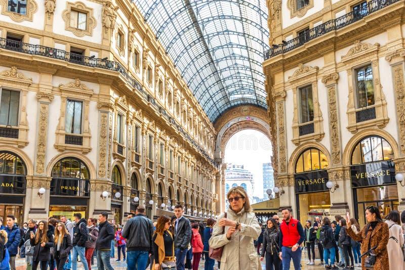 Galleria Vittorio Emanuele ΙΙ στο Μιλάνο, Ιταλία στοκ φωτογραφίες