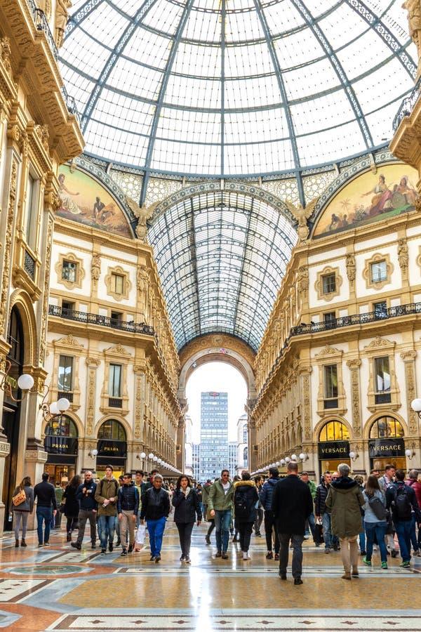 Galleria Vittorio Emanuele ΙΙ στο Μιλάνο, Ιταλία στοκ εικόνες