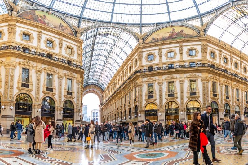 Galleria Vittorio Emanuele ΙΙ στο Μιλάνο, Ιταλία στοκ εικόνα με δικαίωμα ελεύθερης χρήσης