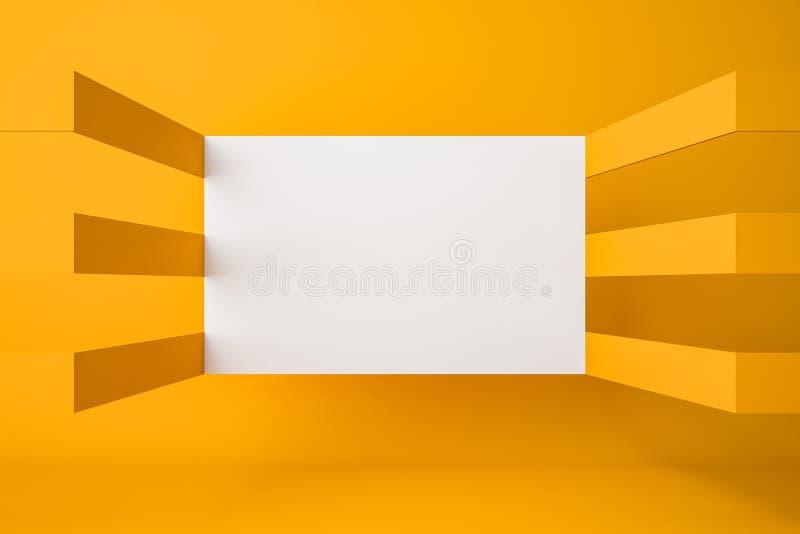 Galleria gialla con derisione sulla parete royalty illustrazione gratis