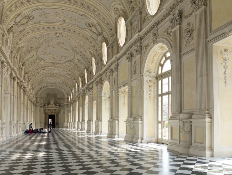 Galleria Grande, La Venaria Reale, Reggia royalty free stock photography