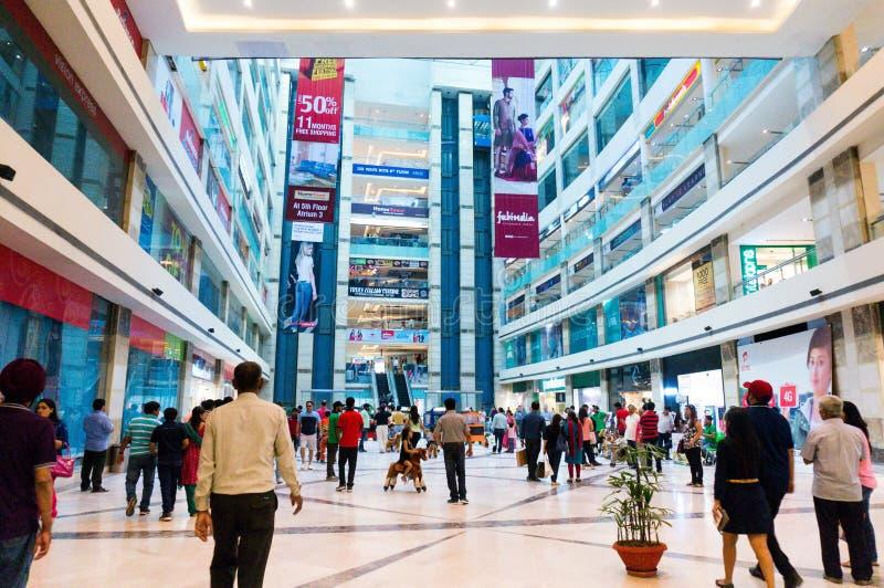 Galleria i delhi Gurgaon royaltyfria bilder