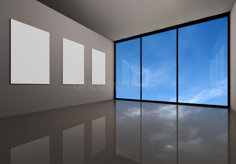 Galleria moderna illustrazione vettoriale
