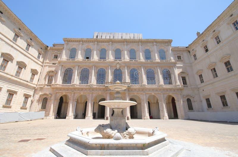 Galleria Nazionale di arte antica nel Palazzo Barberini Roma Italia fotografie stock libere da diritti