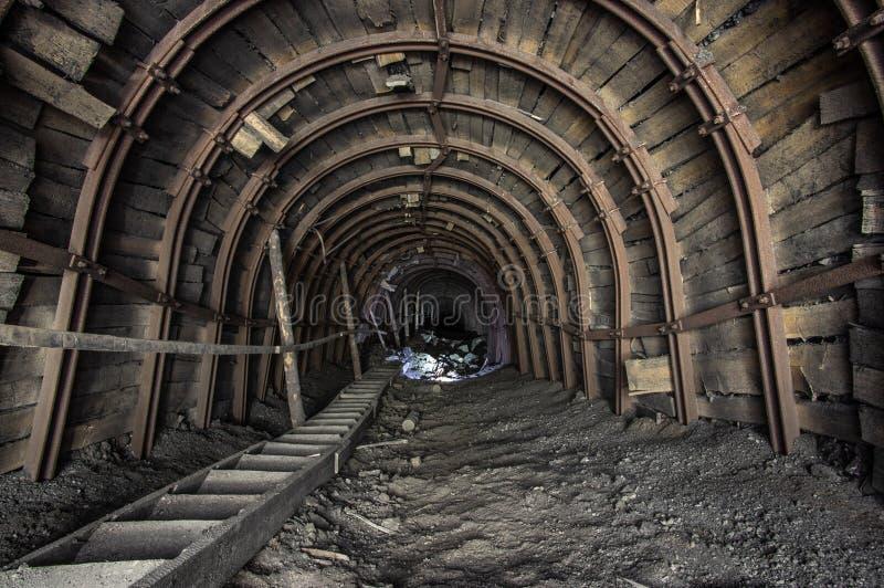 Galleria nella miniera di sale immagine stock