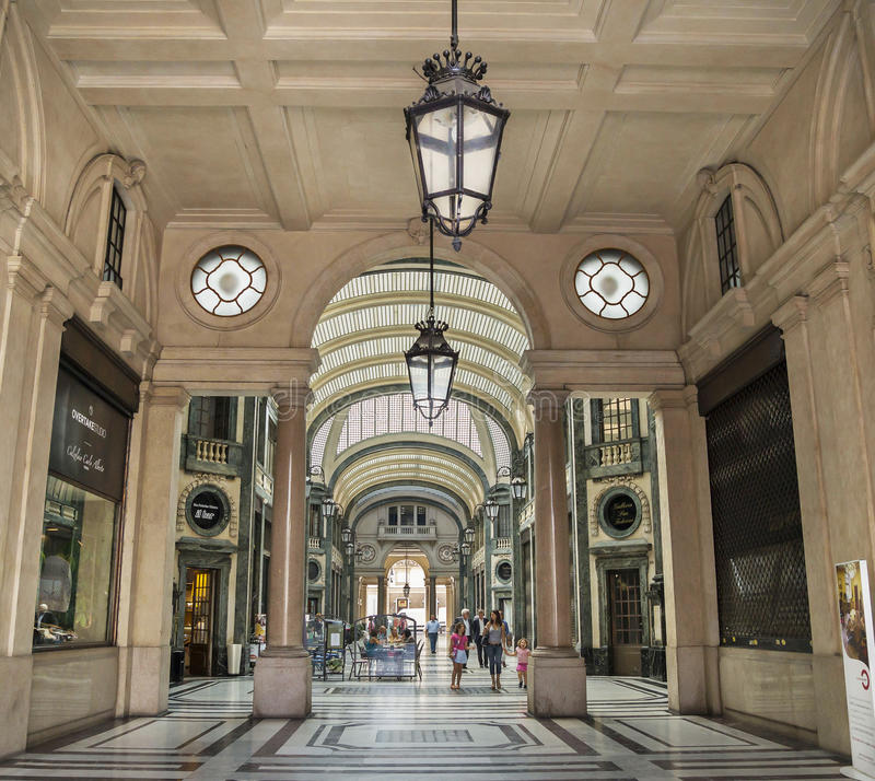 Galleria San Federico - San Federico Gallery, commercial building royalty free stock images