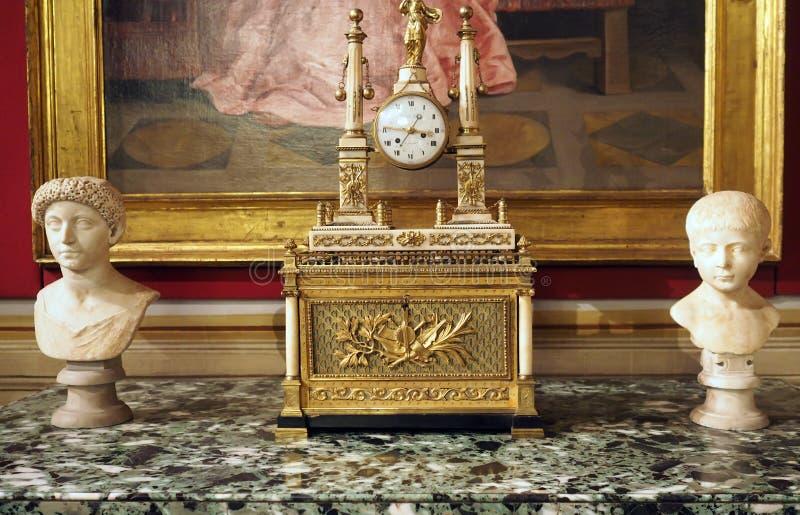 Galleria Spada i Spada Palace i Rom, Italien royaltyfri fotografi