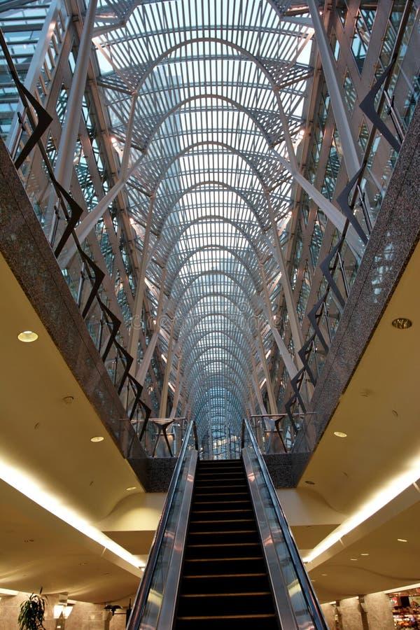 Galleria superior e mais baixo imagem de stock
