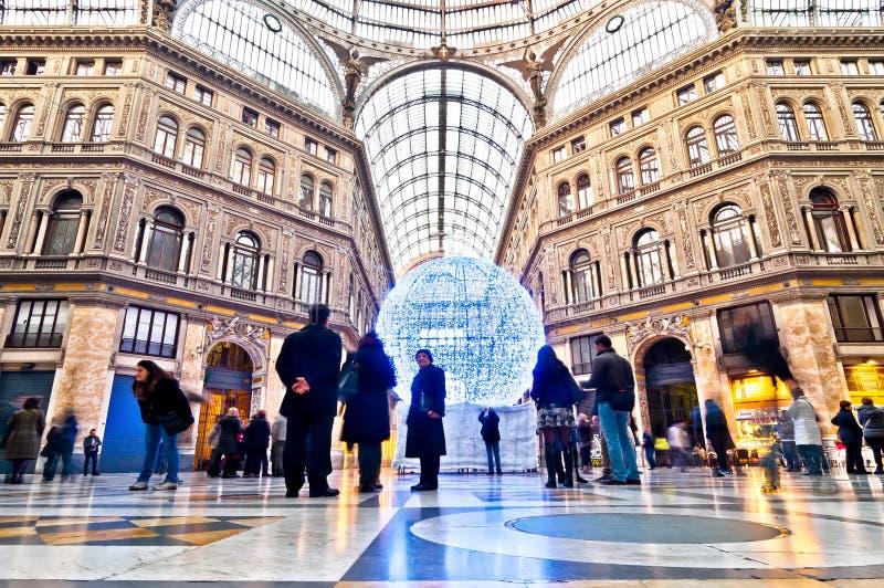 Galleria Umberto галереи покупок i в Неаполь, Италии стоковое фото rf
