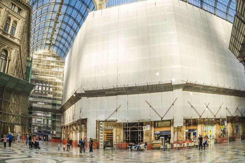 Galleria Umberto, de stad van Napels royalty-vrije stock afbeelding