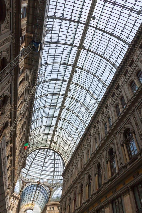 Galleria Umberto I, δημόσιες αγορές και γκαλερί τέχνης στη Νάπολη, Ι στοκ φωτογραφίες με δικαίωμα ελεύθερης χρήσης