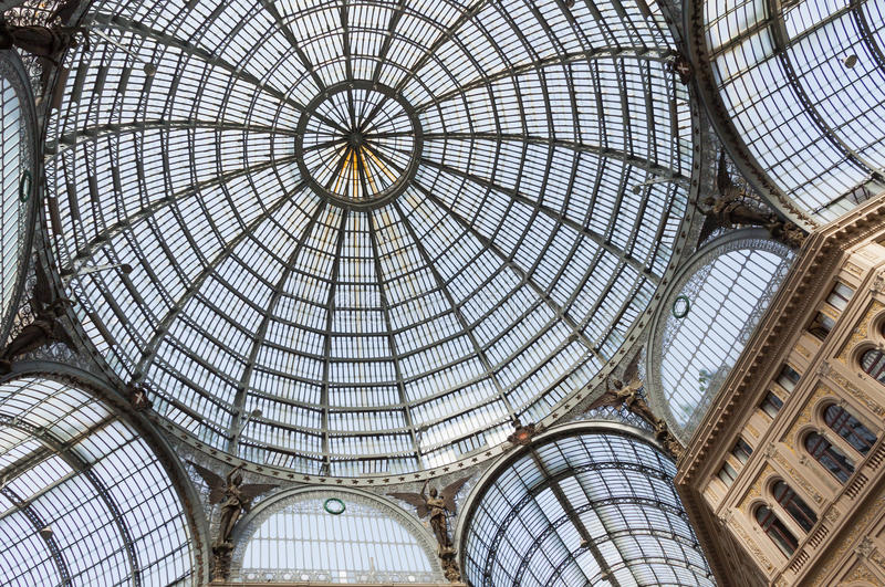 Galleria Umberto I, δημόσιες αγορές και γκαλερί τέχνης στη Νάπολη, Ι στοκ εικόνα