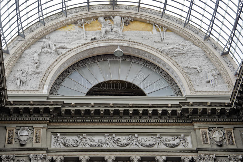Galleria Umberto I royalty free stock photos