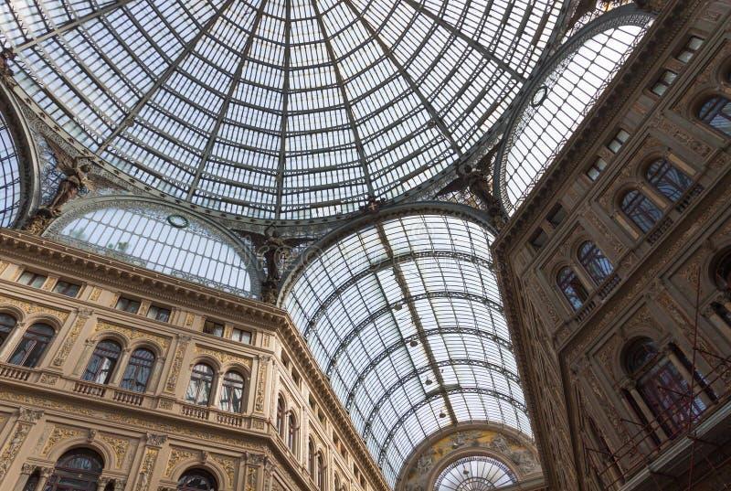 Galleria Umberto I, compras públicas y galería de arte en Nápoles, I imagen de archivo libre de regalías