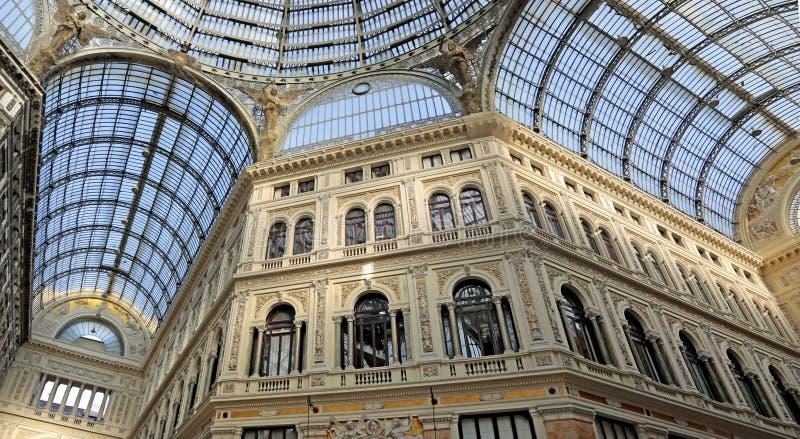 Galleria Umberto I, Downtown Naples, Italy stock photo
