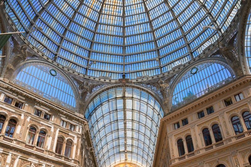 Galleria Umberto I, galería pública de las compras en Nápoles fotografía de archivo libre de regalías