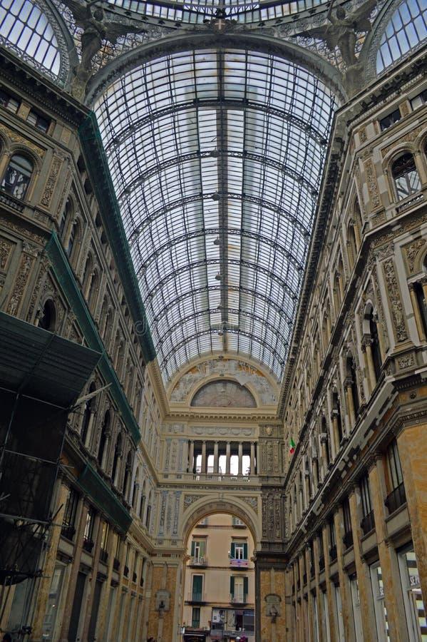 Galleria Umberto I Napels stock foto's