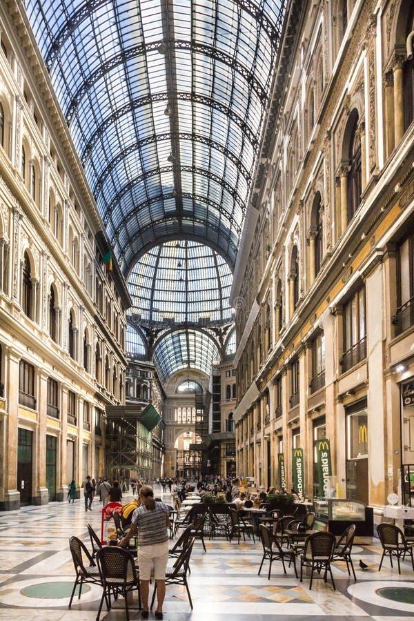 Galleria Umberto I stock afbeeldingen