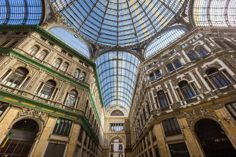 Galleria Umberto I in Napels, Itali? royalty-vrije stock foto