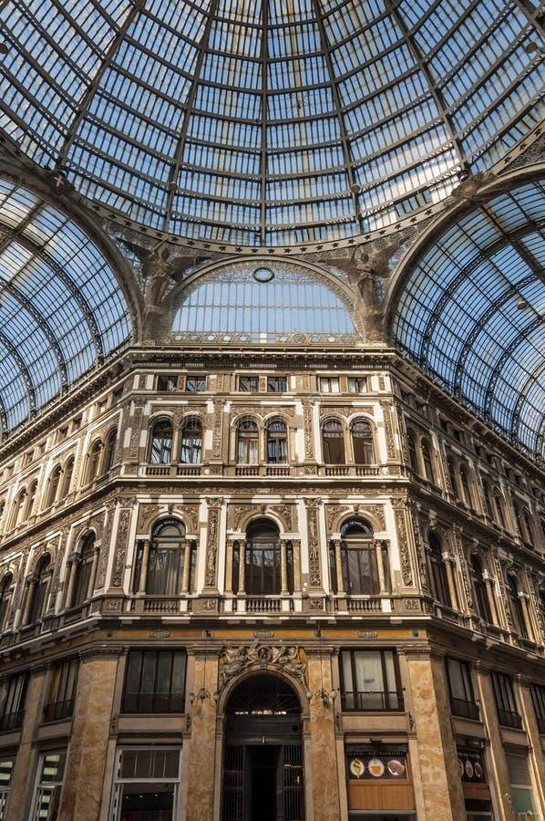 Galleria Umberto I. Naples, Italia. Galleria Umberto I royalty free stock images