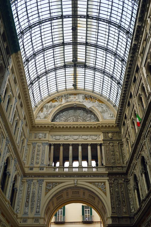 The Galleria Umberto I Naples royalty free stock photography