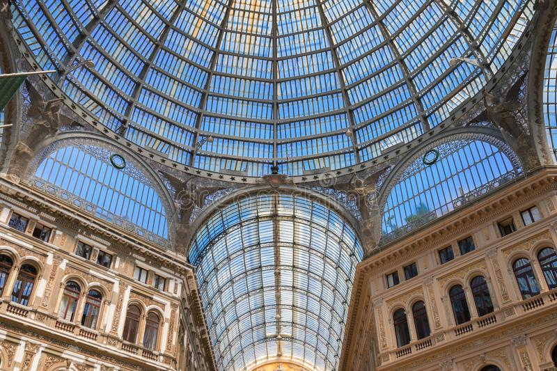 Galleria Umberto I, public shopping gallery in Naples. royalty free stock photography