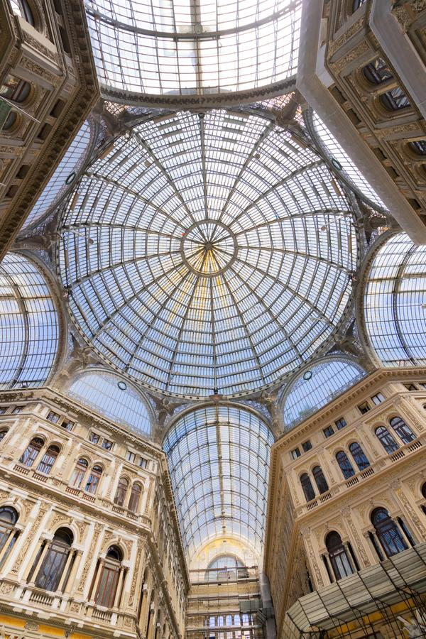 Galleria Umberto I, public shopping gallery in Naples. royalty free stock photos
